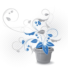 Potted plant graphic vector