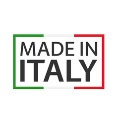 Quality mark made in italy colored symbol vector