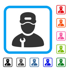 repairman framed icon vector image