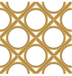 Rope seamless pattern on white background rope vector