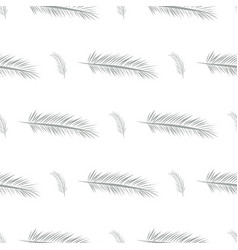 Seamless abstract feather background design messy vector