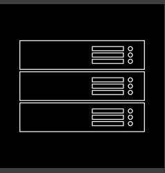 server white color path icon vector image