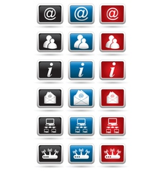 Set of 18 computer icons vector