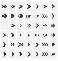 set of futuristic arrows vector image