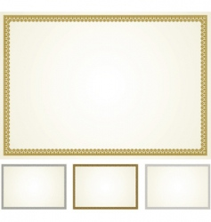 set of ornament frames vector image