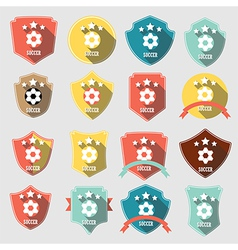 Set of vintage-style soccer championship vector