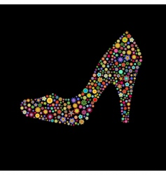 shoe shape vector image