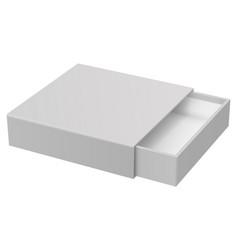 Slider box gray blank open box mock up vector