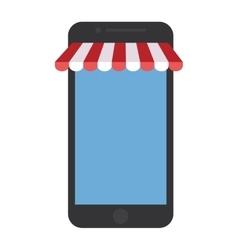 Smartphone shopping online store graphic vector