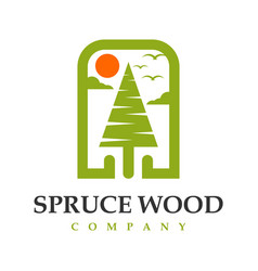spruce logo design your company vector image