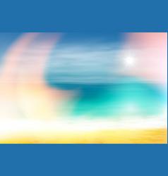 Summer beach and tropical sea with bright sun vector