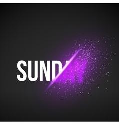 Sunday Sale Energy Explosion Concept vector
