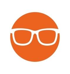 Sunglasses accessorie travel button circle vector