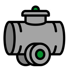 Tractor cistern icon outline style vector