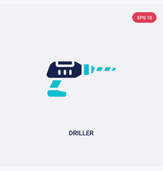 Two color driller icon from electrian connections vector