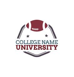 University college logo vector
