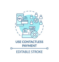 using contactless payment concept icon vector image