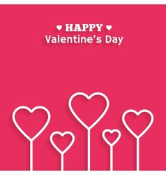Valentines Day flat style greeting card vector image