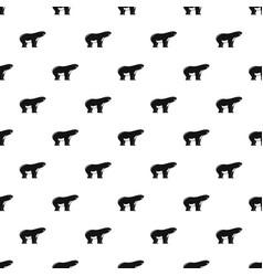 watching polar bear pattern seamless vector image