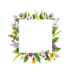 watercolor hand painted frame with field vector image
