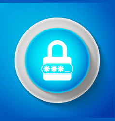 white password protection and safety access icon vector image