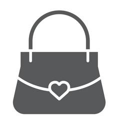 women bag glyph icon girl and purse handbag sign vector image