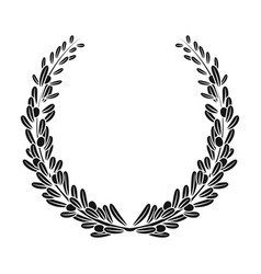 wreath from olive branchesolives single icon in vector image