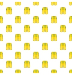 Yellow shorts for swimming pattern cartoon style vector image