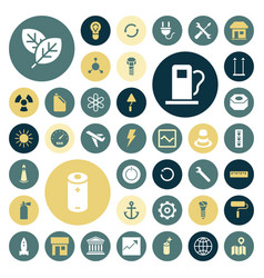 Flat design icons for industrial energy ecology vector
