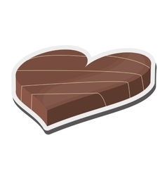 heart shaped decorated candy chocolate icon vector image