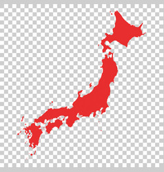 japan map on isolated background vector image