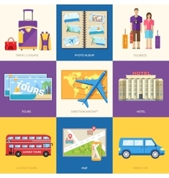 Travel guide infographic with vacation tour vector image