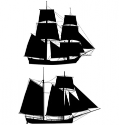 ancient tall ships vector image vector image