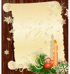 Christmas letter grunge vector image