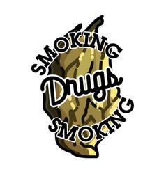 color vintage drugs emblem vector image vector image