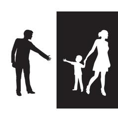 Divorce vector image vector image