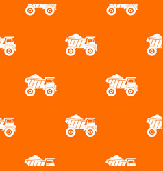 dump truck with sand pattern seamless vector image vector image