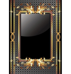 golden frame poster vector image vector image