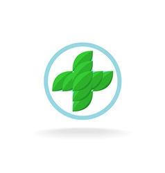 Medicine cross logo vector image vector image