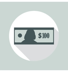 100 Dollars Banknote Icon vector image