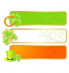 banners for St Patrick's day vector image vector image
