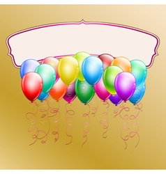 colorful balloons vector image vector image