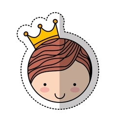 cute little man character with crown vector image vector image