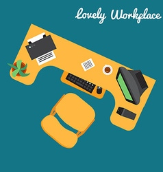 Office or freelancer workplace vector image vector image
