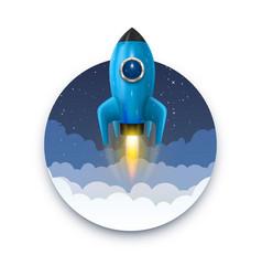 space rocket launch startup creative idea rocket vector image