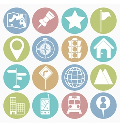 white icons map vector image vector image