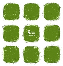 Grunge retro green shapes vector image vector image