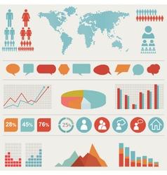 Retro infographics set vector