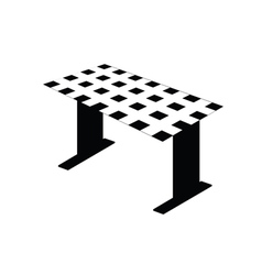 table black and white vector image