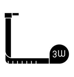 tape-measure icon black sign vector image